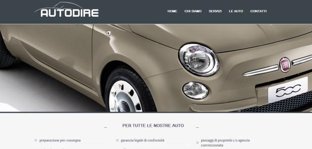Autodire - realizzazione sito web